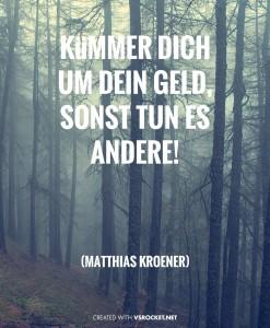 Kröner_KümmerDichUmDeinGeld